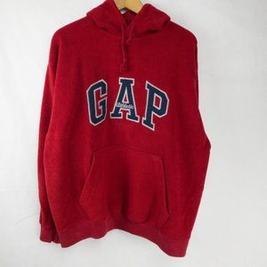Vintage Gap fleece red sweatshirt Size M